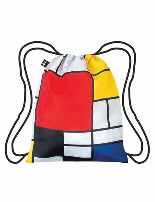 LOQI composition with Red, Yellow, Blue and Black Backpack