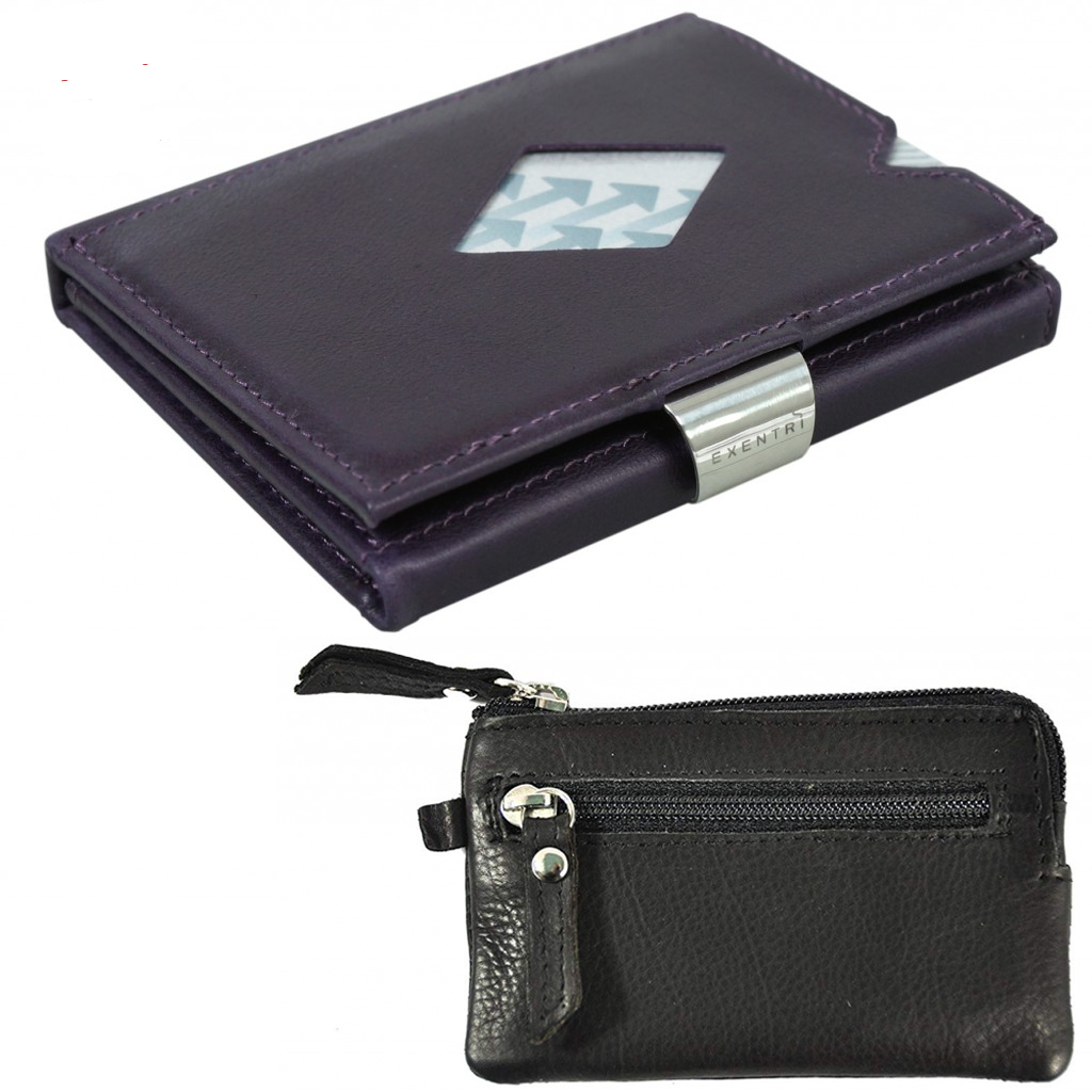 Exentri Billetera Purple Haze NON-RFID con monedero gratis