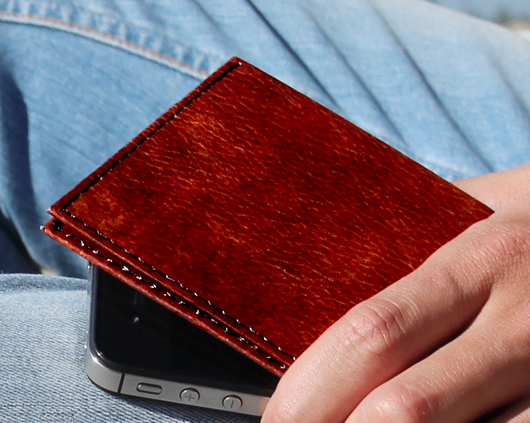 Dynomighty Tyvek Billfold - Brown Leather