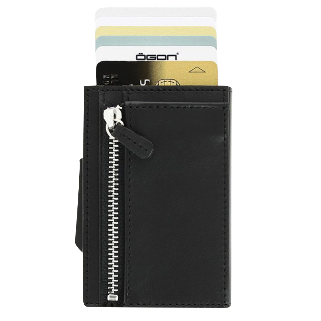 Ögon Cascade Zipper Wallet Full Black
