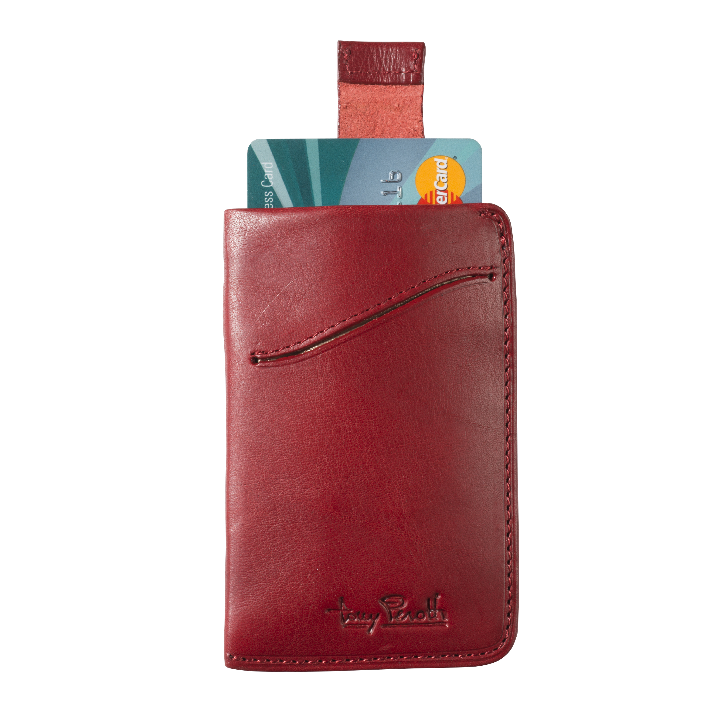 Tony Perotti Creditcard Wallet with Pull up System Red
